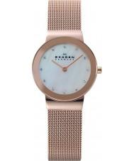 Skagen 358SRRD Ladies klassik witte roos goud mesh horloge