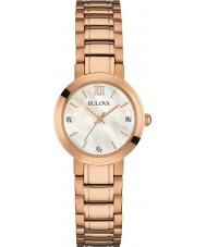 Bulova 97P115 Ladies rose goud vergulde armband horloge