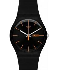 Swatch SUOB704 New gent - dark rebel horloge
