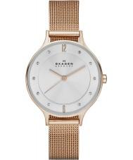 Skagen SKW2151 Ladies anita rose goud mesh horloge