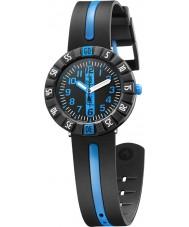 Flik Flak FCSP031 Jongens blauwe vooruit two tone siliconen band horloge