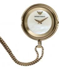 Emporio Armani AR7387 Dames vergulde hanger horloge
