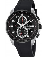 Festina F6841-2 Mens chronograaf zwart rubber chronograafhorloge