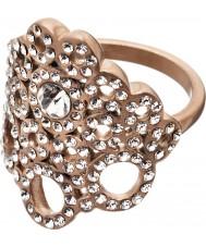 Edblad 82886 Dames Liz mat rose gouden ring - size q (l)