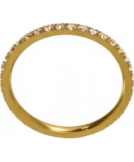 Edblad 216130153-M Ladies gloed micro mat gouden ring - size p (m)