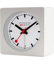 Mondaine A996-ALIG-10SBB Witte kubus alarm clock