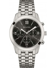 Bulova 96A175 Heren zilver toon chronograafhorloge