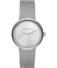 Armani Exchange AX4501 Ladies liv silver stalen armband horloge