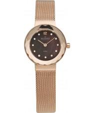Skagen 456SRR1 Ladies klassik rose goud mesh horloge