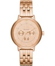 Armani Exchange AX5374 Dames sport rose goud verguld chronograafhorloge