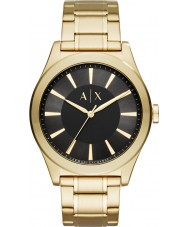 Armani Exchange AX2328 Mens nico gouden stalen armband horloge