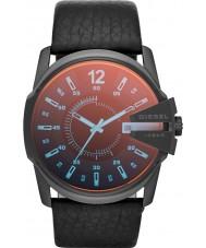 Diesel DZ1657 Mens Master Chief zwart lederen band horloge