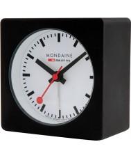 Mondaine A996-ALIG-20SBB Black alarm clock kubus