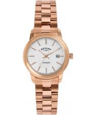 Rotary LB02739-06 Ladies uurwerken wreker rose goud verguld horloge