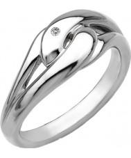 Hot Diamonds DR086-K Dames gaan met de stroom zilveren toon vast te leggen me ring - grootte k