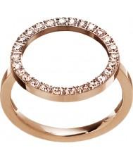 Edblad 3151441908-M Ladies gloed rose goud verguld ring - size p (m)