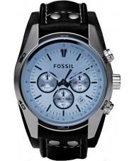 Fossil CH2564 Mens trend blauw chronograaf horloge