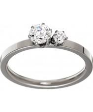 Edblad 31630133-M Ladies dubbele kroon zilveren stalen ring - size p (m)
