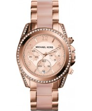 Michael Kors MK5943 Ladies blair rose goud verguld chronograafhorloge