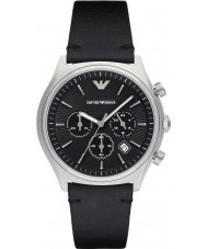 Emporio Armani AR1975 Mens jurk zwart lederen band horloge