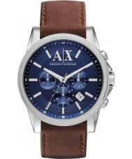 Armani Exchange AX2501 Mannen blauw bruin chronograaf jurk horloge