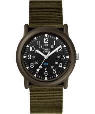 Timex T41711 Mens Black groene camper expeditie horloge