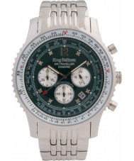 Krug Baümen 600308DS Mens luchtreiziger diamanten horloge