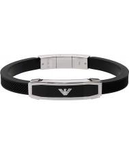 Emporio Armani EGS1543040 Mens inlay zwarte armband