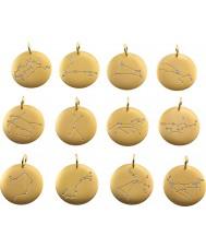 Edblad 31630145-B Charmentity pisces mat verguld zodiac hanger