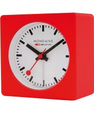 Mondaine A996-ALIG-30SBB Rood alarm cube clock