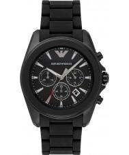 Emporio Armani AR6092 Mens Black ip chronograaf sporthorloge