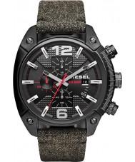 Diesel DZ4373 Mens overflow zwarte ip chronograaf stoffen band horloge