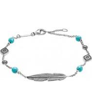 Thomas Sabo A1477-646-17-L19-5v Dames zilveren droomcatcher ethno veer armband