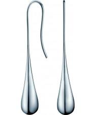 Calvin Klein KJ3QME000100 Ladies ellips zilveren stalen oorbellen