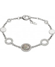 Fossil JF02311040 Ladies vintage glitter zilveren stalen armband