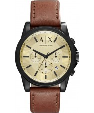 Armani Exchange AX2511 Mens outerbanks donkerbruin chronograafhorloge
