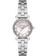 Michael Kors MK3557 Ladies Norie zilveren stalen armband horloge