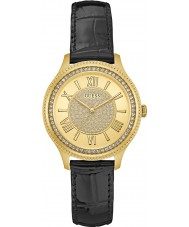Guess W0840L1 Ladies madison zwart lederen band horloge