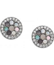 Fossil JF02310040 Ladies vintage glitter zilver toon stalen oorbellen