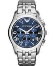Emporio Armani AR1787 Heren Classic chronograaf zilveren stalen armband horloge
