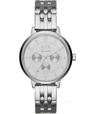 Armani Exchange AX5376 Ladies Payton zilveren stalen armband horloge