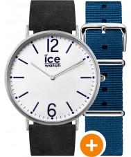 Ice-Watch CHL.B.FIN.41.N.15 Mens ice-stad horloge met blauwe nylon en zwart lederen riemen