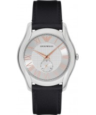 Emporio Armani AR1984 Mens klassieke zwarte lederen band horloge