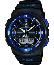 Casio SGW-500H-2BVER Mens collectie kompas zwarte combi horloge