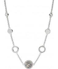 Fossil JF02312040 Ladies vintage glitter zilveren stalen ketting