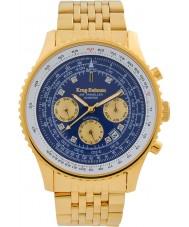 Krug-Baumen 600104DSA Mens air traveler diamond automatisch horloge