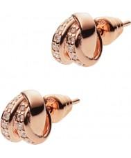 Emporio Armani EG3319221 Ladies stelle rose goud sterling zilveren oorbellen