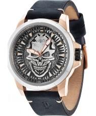 Police 14385JSRS-57 Mens maaimachine zilver zwart horloge