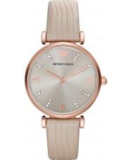 Emporio Armani AR1681 Dames crème lederen band jurk horloge