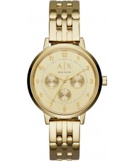 Armani Exchange AX5377 Ladies Payton gouden stalen armband horloge